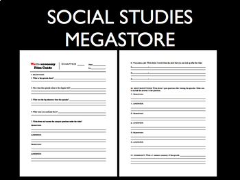 We the Economy worksheets and guides- Economics