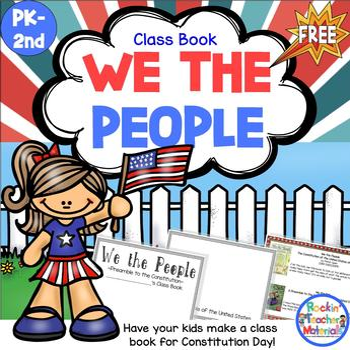We the People Kid Created Class Book FREEBIE
