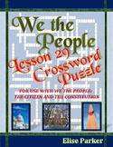 We the People Lesson 29 Worksheet Puzzle: Freedom of Speech and Expression