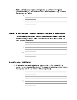 We the People Level 3 Textbook- Lesson 13 Guided Reading Worksheet
