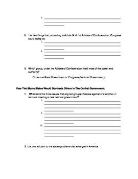We the People Level 3 textbook-Lesson 8 Guided Reading Worksheet