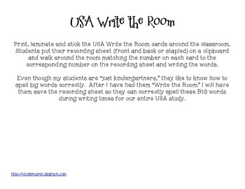We the People: Patriotic Write the Room Activity