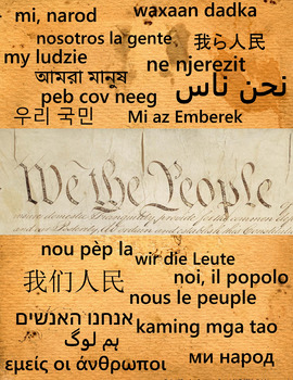 We the People Poster in Multiple Languages #kindnessnation #weholdthesetruths