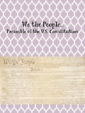 We the People...Preamble of the US Constitution