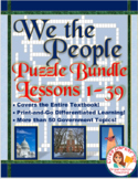 We the People Puzzles -- ENTIRE TEXTBOOK BUNDLE -- Lessons 1-39