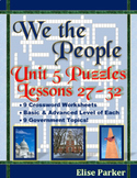 We the People Puzzles -- Unit 5 Bundle