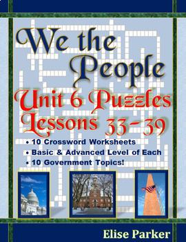 We the People Puzzles -- Unit 6 Bundle