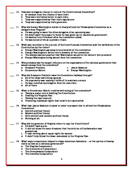We the People: The Citizen and the Constitution Lesson 9 Worksheet / Test