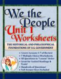 We the People Unit 1 Worksheets BUNDLE