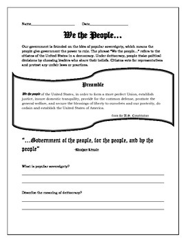 """""""We the people..."""""""