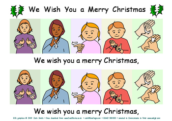We wish you a Merry Christmas (with BSL signs)