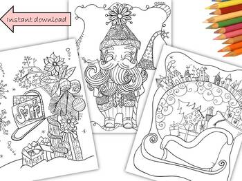 We wish you a Whimsical Christmas Coloring Pack
