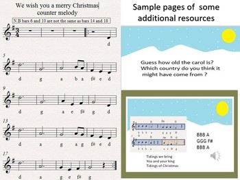 We wish you a merry Christmas  Lessons leading to performance