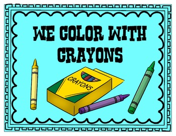 We write with pencil not crayon poster