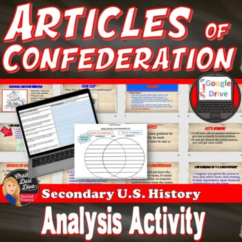 Articles of Confederation Analysis Activity (U.S. History) Digital and Print