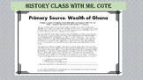 Wealth of Ghana Primary Source