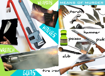 Murder Weapons - Guns Knives Blunt Force et al - FREE POSTER