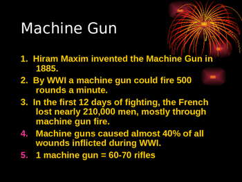 Weapons of World War I- Powerpoint/ Lecture