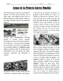 Weapons of World War I Reading Activity {Spanish Version}
