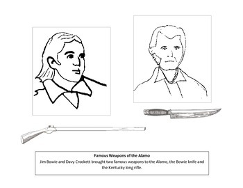 Weapons of the Alamo coloring page