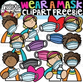 Wear a Mask Clipart Freebie {Distance Learning Clipart}