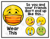 Wear a Mask - Emoji Theme - COVID 19 Classroom Rule Poster