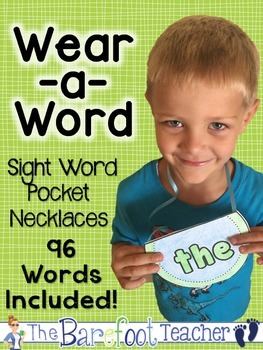 Sight Word - High Frequency Word - Pocket Necklaces