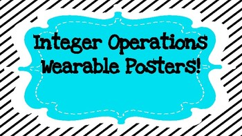 Wearable Poster! Operations with Integers