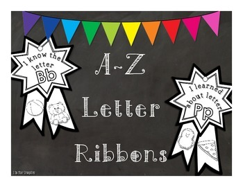 Alphabet Letter Ribbons