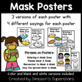 Wearing A Mask Posters | COVID 19 Classroom Safety Posters