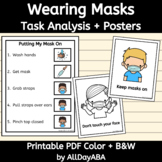 Wearing A Mask Posters and Task Analysis - Back to School