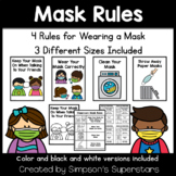 Wearing A Mask Rules | COVID 19 Classroom Safety Posters