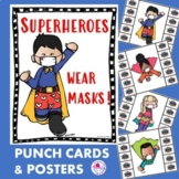 Covid 19 Safety Posters | Superheroes Wear Mask | Wearing
