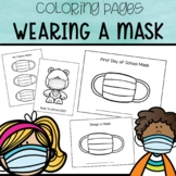 Wearing a Mask Coloring Pages | Back to School
