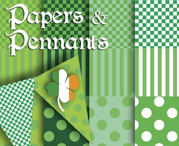 "Wearing the Green Digital Craft Papers • 12, 12 x 12"" 300"