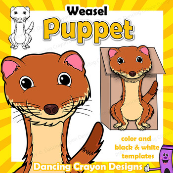 Weasel Craft Activity | Paper Bag Puppet Template