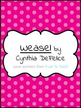 Weasel by Cynthia DeFelice Novel Activities