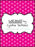 Weasel by Cynthia DeFelice Novel Activities
