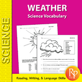 Weather: Science Vocabulary