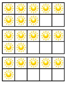 Weather 10 Frame Flashcards ~ Common Core ~ Sun Ten Frame