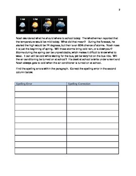 Weather - 10 practice sheets