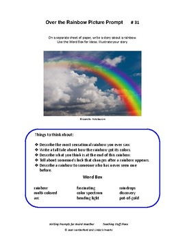 WRITING PROMPTS for WEIRD WEATHER ... Rubrics, Checklists, Tips, Vocabulary