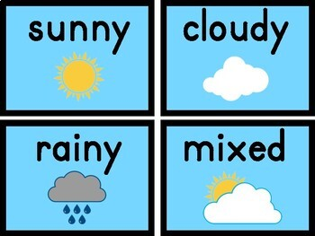 Daily Weather Station and Activities for Morning Meeting