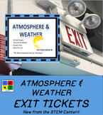 Weather Atmosphere Exit Tickets Task Cards