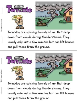 Weather Guided Reading Severe Weather Informational Reader