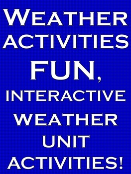 Weather Weather and Climate Weather Activities Weather Natural Disasters