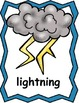 Weather Theme Posters, Write the Room, Writing Activities,