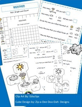 Weather / Spring Activities, Graphing Activities, Poetry Search, Weather Themed