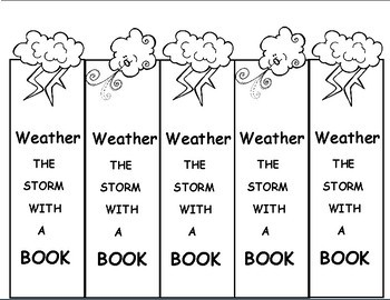 Weather Themed  Bookmarks (Free) For Weather Units or Spring Activities