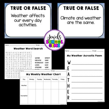 Weather Activities (Weather PowerPoint)